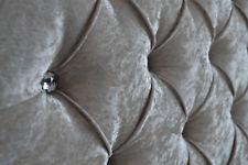 Bed Headboard Crushed Velvet Chesterfield 3FT 4FT 4FT6 5FT FREE P&P 10 colours