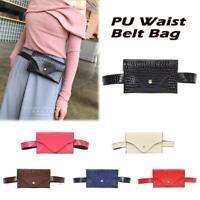 PU Leather Waist Fanny Pack Belt Bag Pouch Travel Hip Bum Bag Women Mini Purse