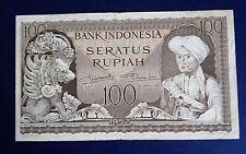 1952 Indonesia 100 Rupiah Banknote