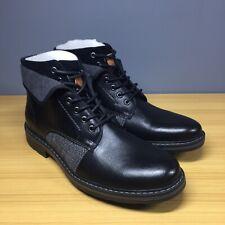 Robert Wayne Jef Black Leather Ankle Boot Men's RW100419M 11 D