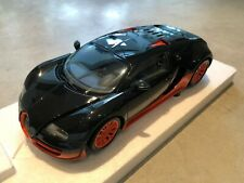 2011 Bugatti Veyron Super Sport +Figure Top Gear Carbone/Orange Minichamps 1/18