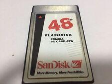Sandisk 48MB FLASHDISK  PCMCIA PC CARD ATA FLASH CARD