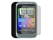 Skinomi Carbon Fiber Full Body + Screen Protector Skin for HTC Wildfire S