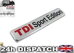 TDI Sport Edition Badge Emblem Metal Logo Sticker For AUDI SEAT