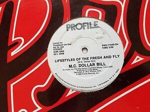 """M.C.Dollar Bill - Lifestyles De The Frais Et Fly Promo 12 """" Rap Hip Hop 1986"""