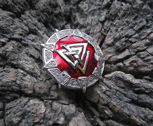 Valknut Celtic Warrior's Knot Viking Odin Nordic God Military Pin Badge / Enamel