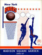 1966-67 NBA BOSTON CELTICS vs. NEW YORK KNICKS GAME PROGRAM (UNSCORED) NM
