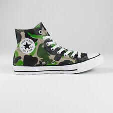 Converse All Star Hi Shoes Trainers – Camo Green in UK Size 7,8,9,10,11