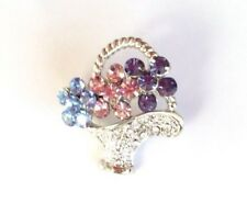 Flower Basket Vintage Style Lapel Pin In Quality Box For Mothers Day Gift