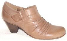 NEW PureSole Rachel Mushroom Leather Ruched Bootie 6 M