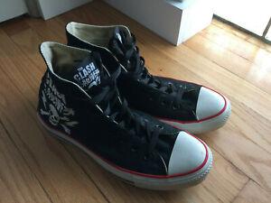 Converse Chuck Taylor All Star Hi Tops The Clash size 9 punk rock Joe Strummer