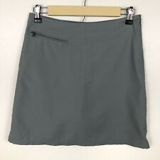Patagonia Women's Skort Size 2 Active Skirt Shorts Green Side Zips Casual