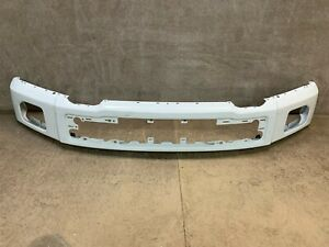 2015 2016 2017 Ford F-150 Front Bumper White OEM