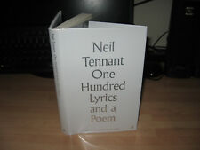 Neil Tennant Hand Signed One Hundred Lyrics and a Poem 1st/1st Pet Shop Boys HB