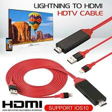 NUOVO 2M 8 PIN LIGHTNING a HDMI TV AV Cavo Adattatore per iPad iPhone 6 6S 7 7 Plus