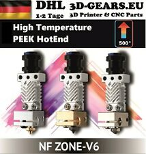 PEEK HotEnd NF Zone-v6 Cooper High Temperature Bowden Extruder E3D V6 500° 70W