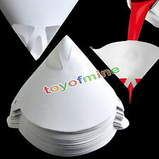 100pcs 190 Micron Paper Nylon Paint Strainer Filter Purifying Straining Cup