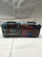 Spider-man And Transformers ~ 2011 ~ Spider-Sense Tin Lunch Box Marvel.   (A1)