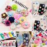 50Pcs Multi-Color Flatback Resin Rose Flower Cabochons DIY Embellishments Crafts