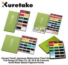 Kuretake Zig Gansai Tambi Japanese Traditional Large Pan Watercolour Paint Sets