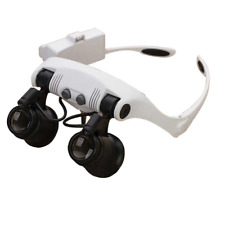 Babimax 10X 15X 20X 25X Double Eye Headset Magnifier with 2 LED Magnifying Glass