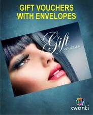 Beauty Salon Gift Voucher Blank Card Coupon Nail Massage with Envelopes UK