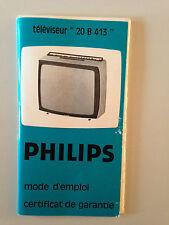 MODE D'EMPLOI TELEVISEUR 20 B 413