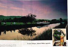 Publicité advertising 1989 (2 pages) Scotch Whisky Johnnie walker