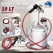 10 Lt Pressure Pot Spray Gun Tank Hose Gauge DIY House Paint Air Tools AU Stock