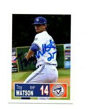 Troy Watson 2018 Bluefield Blue Jays auto signed team rookie card Gunter TX
