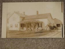 RPPC Farmhouse-Horse-Kids, Schuyler Cty., NY, Used, Early 1900`s