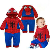 Spiderman Baby Kid Toddler Boy Bodysuit Romper Jumpsuit One-Piece Outfit Costume