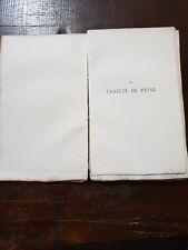 Rare Traicté de peyne de 1867 n°66 / Rare Traicté de peyne from 1867 n ° 66