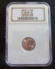 1946 S  ROOSEVELT DIME  NGC  MS 67  W