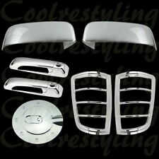 For Dodge Ram 09-16   Chrome Top Mirror 2 Doors Handle Tail light Gas Cap Cover