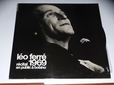 DOUBLE 33 TOURS LP - LEO FERRE 1969 - RECITAL EN PUBLIC A BOBINO - COMPLET 1969