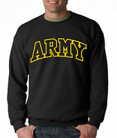 ARMY ARCHED CREW NECK United States Military Sweatshirt Usarmy Ranger US USA