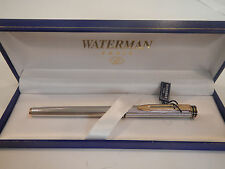 WATERMAN EXCLUSIVE STERLING  SILVER ROLLERBALL PEN BARLEY PATTERN NEW   IN BOX