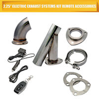 "2.5"" 63MM REMOTE ELECTRIC EXHAUST CATBACK DOWNPIPE CUTOUT WITHOUT VALVE SYSTEM"