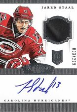 Jared Staal 2013-14 Panini Dominion Autograph & 2-Color Patch 3/299 Auto RC