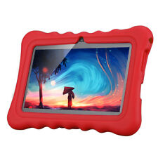 "7"" Inch Kids ANDROID 4.4 Tablet PC 8GB 3G Wifi Child Girl with Red Cover Case UK"