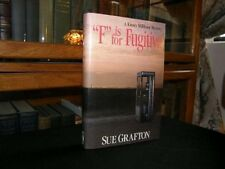 Sue Grafton, F IS FOR FUGITIVE *SIGNED & INSCRIBED* 1989 HBDJ 1ST/1ST New! (08C)