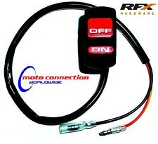 RFX ON / OFF Engine kill switch with wiring.  Universal for Motorcycle Motorbike