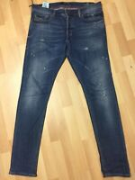 WORN MEN Diesel DNA TEPPHAR Stretch Denim 084GH D/BLUE Slim W34 L32 H6.5 RRP£179