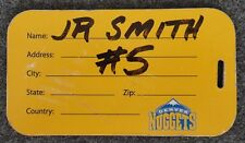 J.R. SMITH DENVER NUGGETS CLEVELAND CAVALIERS EQUIPMENT LUGGAGE TAG RARE FIND!