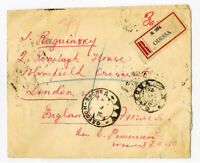Russia Rare Cover 1922 Registered Back Stamped