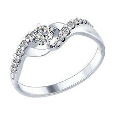 MIRKADA Damen 925 Sterling Silber Ring mit SWAROVSKI Zirkonia Gr. 54 * NEU *