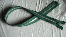 24 3/4 inch Forest Green & Aluminum #5 Metal Separating Zipper YKK New!
