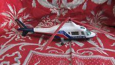 ancien helicoptere police majorette 20.5cm augusta 109