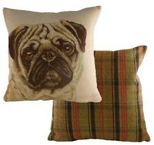 "17"" PUG Dog Cushion Evans Lichfield DP922 43cm Waggydogz"